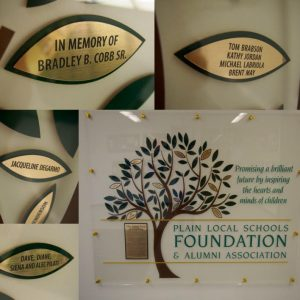 """Gifts of $1,000 or more will receive an inscription on a leaf on the """"Great Tree of Learning"""" donor wall inside of GlenOak High School."""